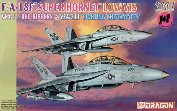F/A-18F Super Hornet VFA-11 e VFA-211 - 1/144 - Dragon 4610  - BLIMPS COMÉRCIO ELETRÔNICO