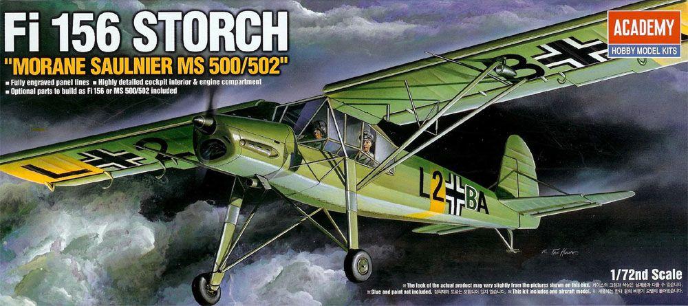 Fi 156 Storch - 1/72 - Academy 12459  - BLIMPS COMÉRCIO ELETRÔNICO