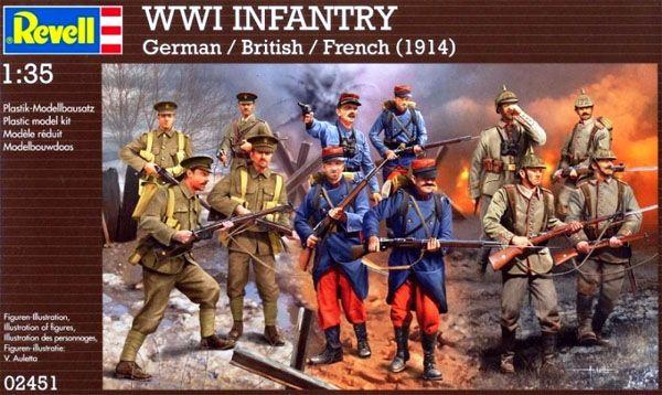 Figuras de Infantaria da Primeira Guerra Mundial (1914) - 1/35 - Revell 02451  - BLIMPS COMÉRCIO ELETRÔNICO