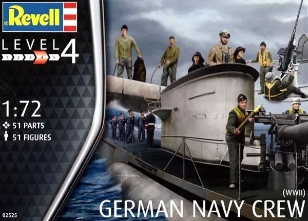 Figuras de Marinheiros Alemães da Segunda Guerra Mundial - 1/72 - Revell 02525  - BLIMPS COMÉRCIO ELETRÔNICO
