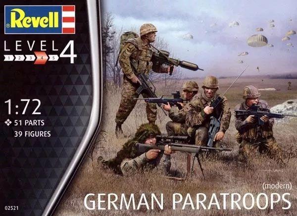 Figuras de Paraquedistas Alemães (modernos) - 1/72 - Revell 02521  - BLIMPS COMÉRCIO ELETRÔNICO
