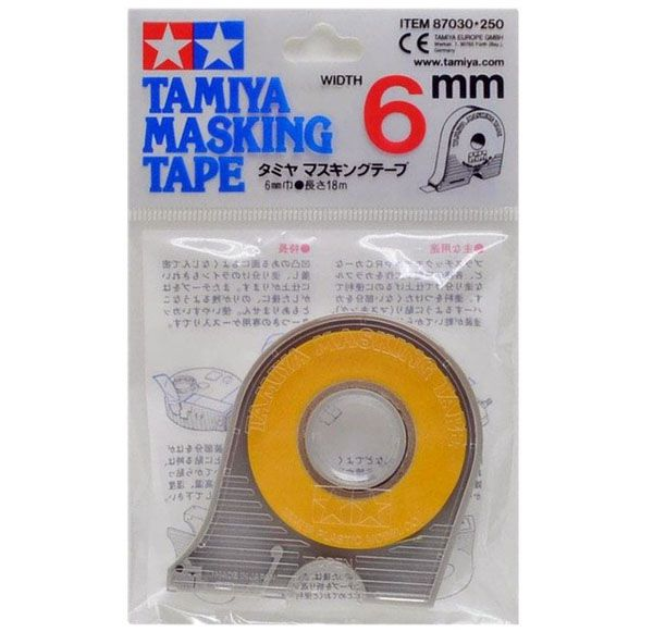 Fita adesiva para máscara de pintura (masking tape) 6 mm - Tamiya 87030  - BLIMPS COMÉRCIO ELETRÔNICO