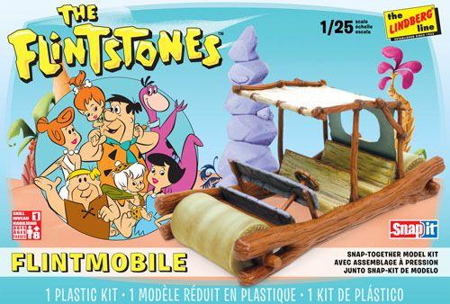 Flintstones Flintmobile Snapit - 1/25 - Lindberg HL604  - BLIMPS COMÉRCIO ELETRÔNICO
