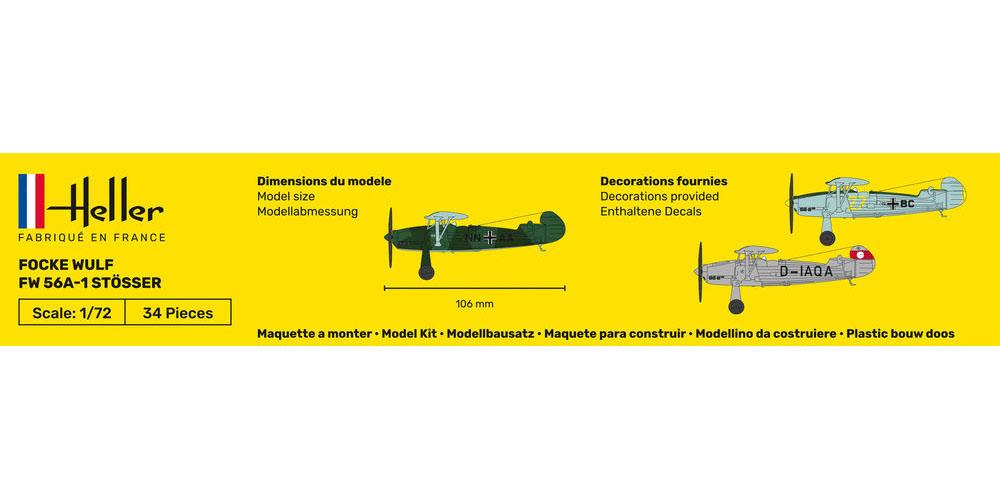 Focke Wulf FW 56A-1 Stösser - 1/72 - Heller 80238  - BLIMPS COMÉRCIO ELETRÔNICO