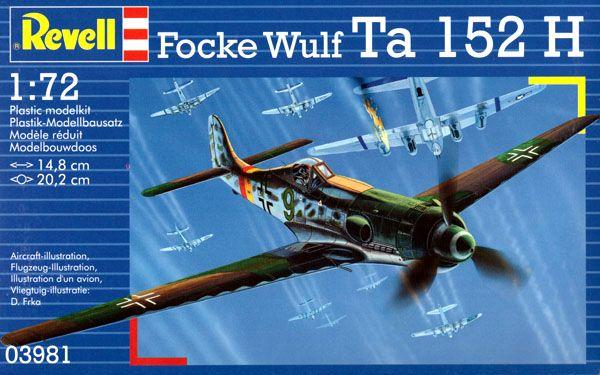Focke Wulf Ta 152 H - 1/72 - Revell 03981  - BLIMPS COMÉRCIO ELETRÔNICO