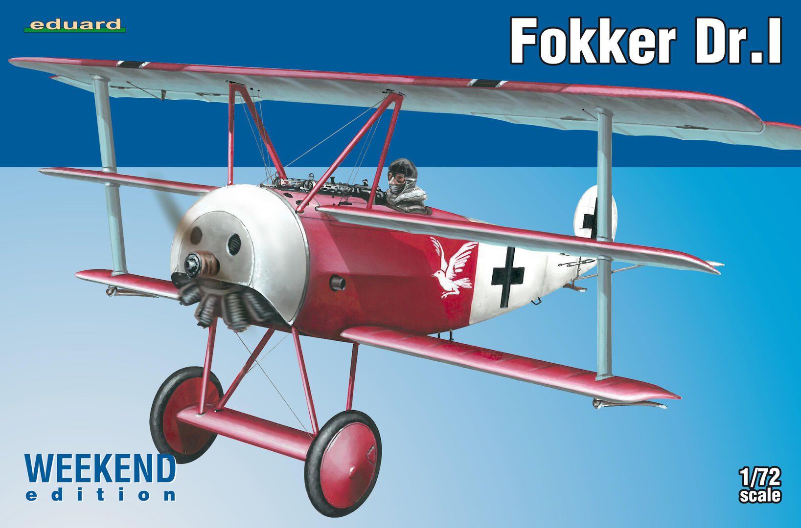 Fokker Dr.I - 1/72 - Eduard 7438  - BLIMPS COMÉRCIO ELETRÔNICO
