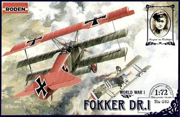 Fokker DR.I - 1/72 - Roden 010  - BLIMPS COMÉRCIO ELETRÔNICO