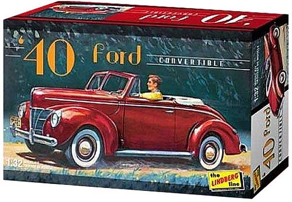 Ford 1940 Conversível - 1/32 - Lindberg HL119  - BLIMPS COMÉRCIO ELETRÔNICO
