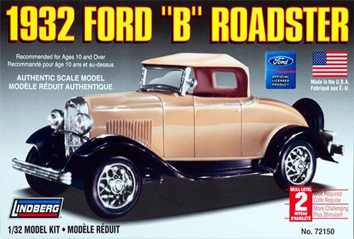 Ford B Roadster 1932 - 1/32 - Lindberg 72150  - BLIMPS COMÉRCIO ELETRÔNICO
