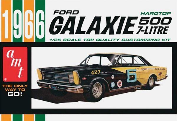 Ford Galaxie 1966 - 1/25 - AMT 904  - BLIMPS COMÉRCIO ELETRÔNICO