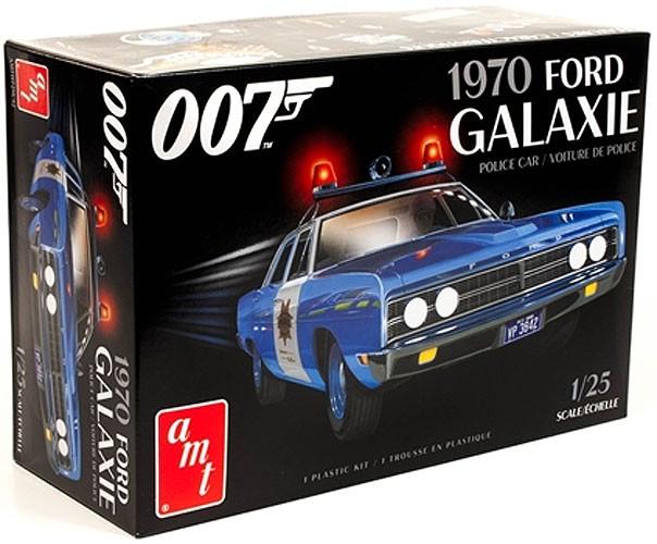 Ford Galaxie 1970 Police Car (James Bond) - 1/25 - AMT 1172M  - BLIMPS COMÉRCIO ELETRÔNICO