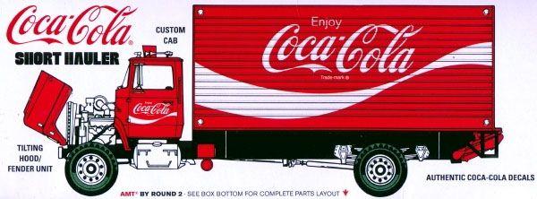 Ford Louisville Short Hauler Coca-Cola 1970 - 1/25 - AMT 1048  - BLIMPS COMÉRCIO ELETRÔNICO