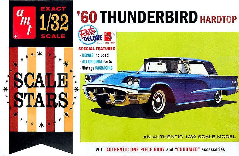 Ford Thunderbird 1960 - 1/32 - AMT 1135  - BLIMPS COMÉRCIO ELETRÔNICO
