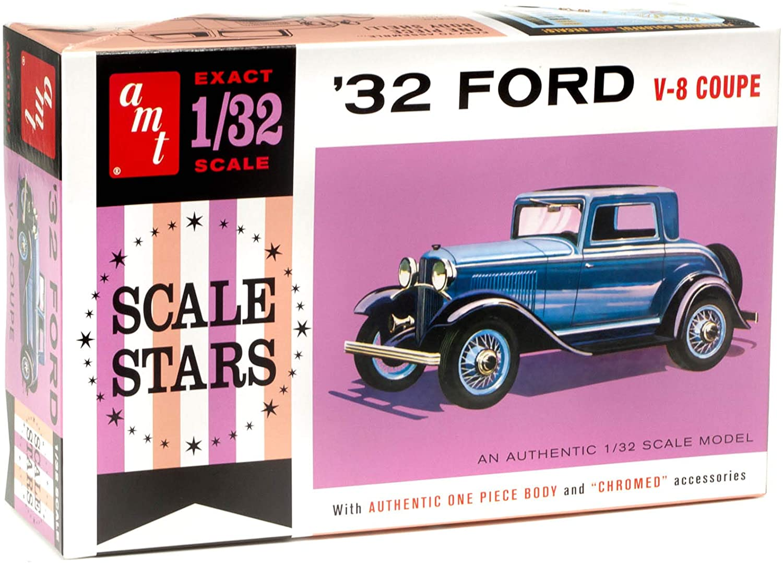 Ford V-8 Coupe 1932 Scale Stars - 1/32 - AMT 1181  - BLIMPS COMÉRCIO ELETRÔNICO