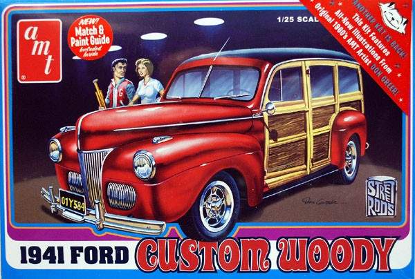 Ford Woody Custom 1941 - 1/25 - AMT 906  - BLIMPS COMÉRCIO ELETRÔNICO