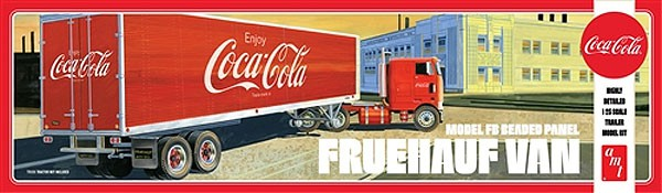 Fruehauf Beaded Van Semi Trailer (Coca-Cola) - NÃO INCLUI CAVALO MECÂNICO - 1/25 - AMT 1109  - BLIMPS COMÉRCIO ELETRÔNICO