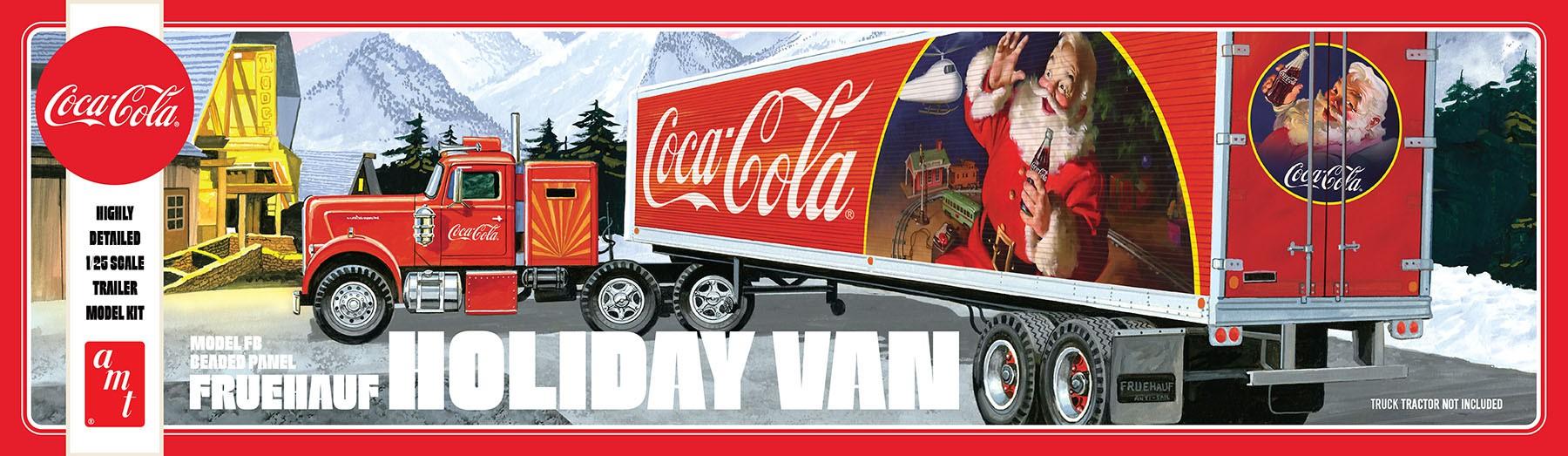 Fruehauf Holiday Hauler Semi Trailer (Coca-Cola) - NÃO INCLUI CAVALO MECÂNICO - 1/25 - AMT 1165  - BLIMPS COMÉRCIO ELETRÔNICO