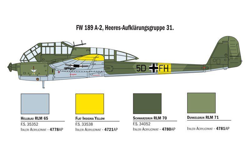 FW 189 A-1/A-2 - 1/72 - Italeri 1404  - BLIMPS COMÉRCIO ELETRÔNICO