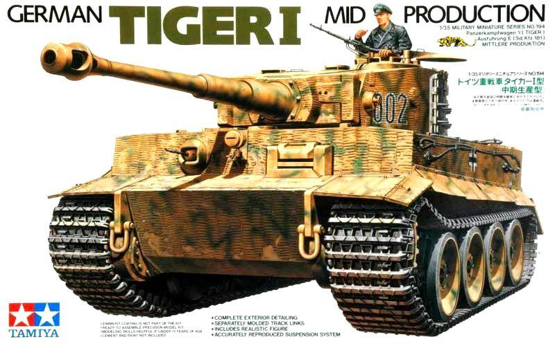 German Tiger I Mid Production - 1/35 - Tamiya 35194  - BLIMPS COMÉRCIO ELETRÔNICO