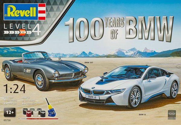 Gift-Set 100 anos da BMW - 1/24 - Revell 05738  - BLIMPS COMÉRCIO ELETRÔNICO