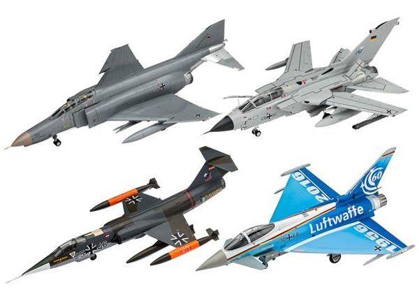Gift Set 60 Anos da Luftwaffe - 4 kits - 1/72 - Revell 05797  - BLIMPS COMÉRCIO ELETRÔNICO