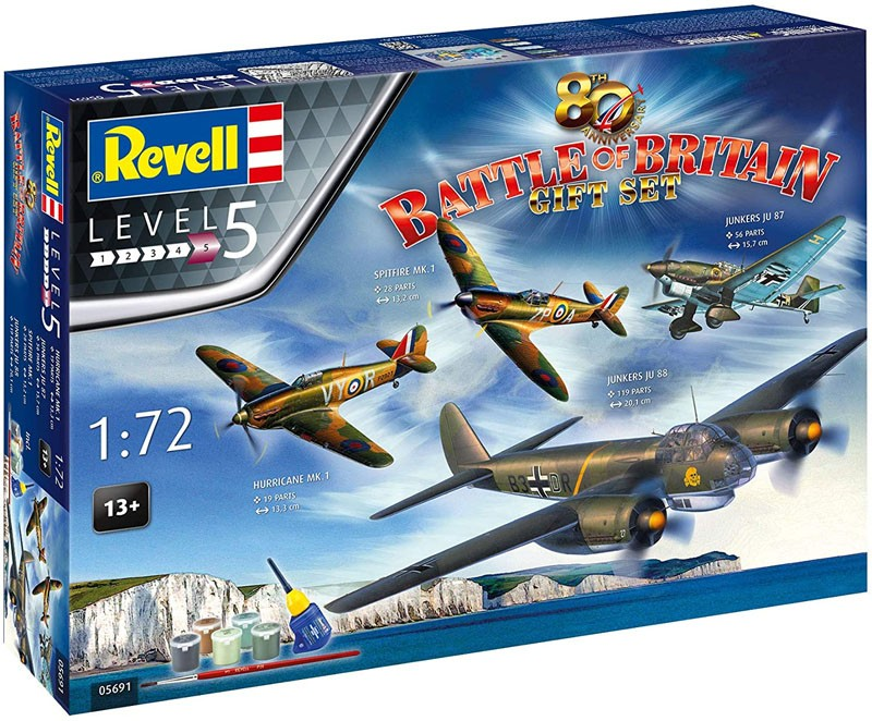 Gift Set 80th Anniversary Battle of Britain - 1/72 - Revell 05691  - BLIMPS COMÉRCIO ELETRÔNICO