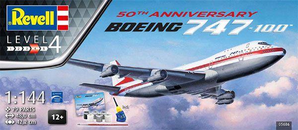 Gift Set Boeing 747-100 - 50° Aniversário - 1/144 - Revell 05686  - BLIMPS COMÉRCIO ELETRÔNICO