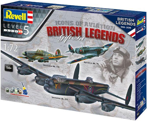 Gift Set British Legends - 3 kits - 1/72 - Revell 05696  - BLIMPS COMÉRCIO ELETRÔNICO