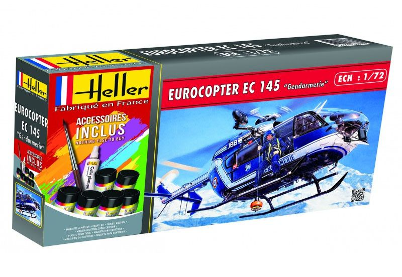 Gift Set Eurocopter EC 145 Gendarmerie - 1/72 - Heller 56378  - BLIMPS COMÉRCIO ELETRÔNICO