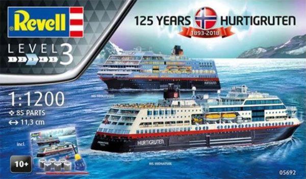 Gift Set Hurtigruten 125th Anniversary - 1/1200 - Revell 05692  - BLIMPS COMÉRCIO ELETRÔNICO
