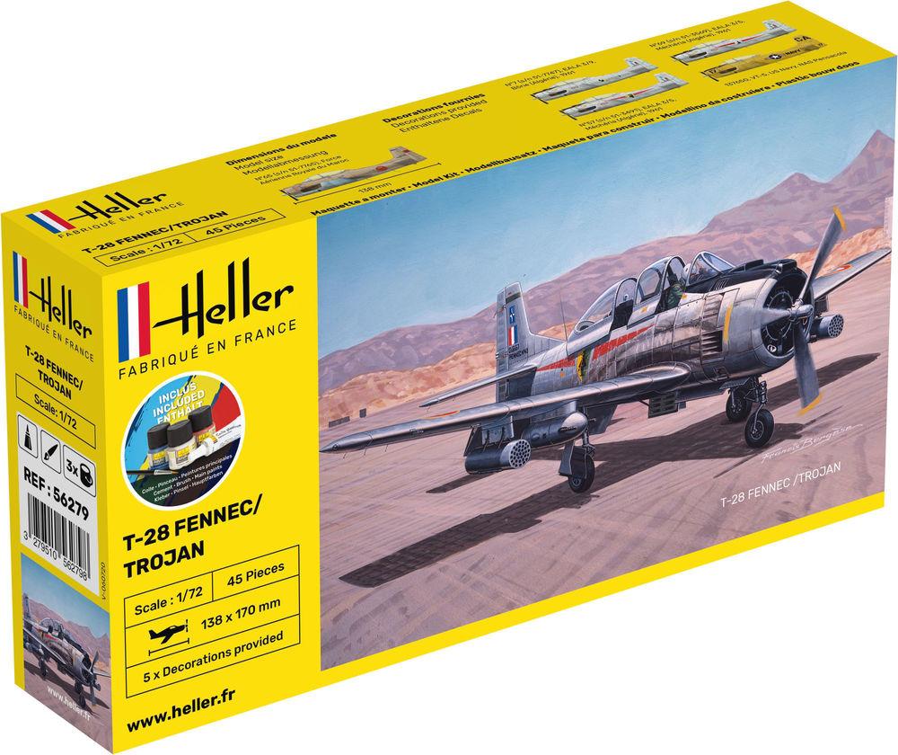 Gift Set NA T-28 Fennec/Trojan - 1/72 - Heller 56279  - BLIMPS COMÉRCIO ELETRÔNICO