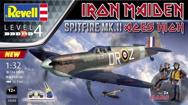 "Gift Set Spitfire Mk.II ""Aces High"" Iron Maiden - 1/32 - Revell 05688  - BLIMPS COMÉRCIO ELETRÔNICO"