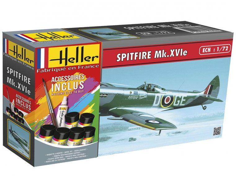 Gift Set Spitfire Mk.XVIe - 1/72 - Heller 56282  - BLIMPS COMÉRCIO ELETRÔNICO