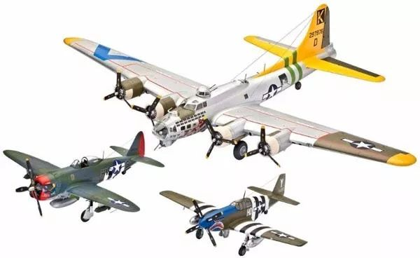 Gift Set U.S. Legends: 8th Air Force - 3 kits - 1/72 - Revell 05794 - BLIMPS COMÉRCIO ELETRÔNICO