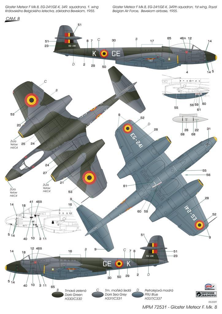 Gloster Meteor F Mk.8 - 1/72 - MPM 72531  - BLIMPS COMÉRCIO ELETRÔNICO