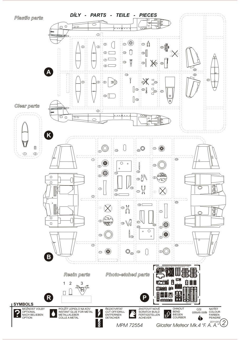Gloster Meteor Mk.4 - 1/72 - MPM 72554  - BLIMPS COMÉRCIO ELETRÔNICO