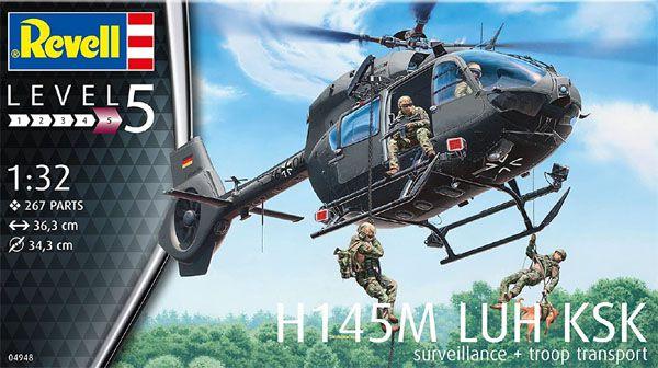 H145M LUH KSK - 1/32 - Revell 04948  - BLIMPS COMÉRCIO ELETRÔNICO