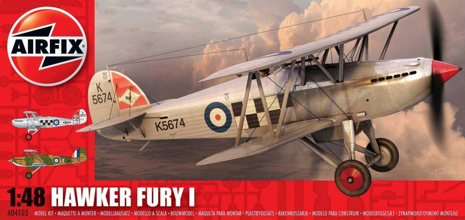 Hawker Fury I - 1/48 - Airfix A04103  - BLIMPS COMÉRCIO ELETRÔNICO