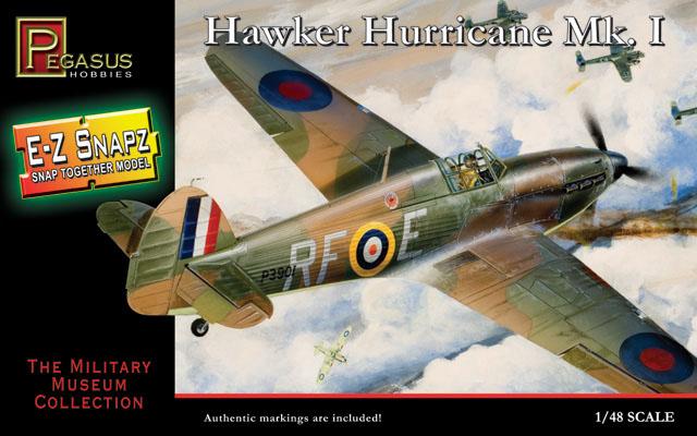 Hawker Hurricane Mk.I - 1/48 - Pegasus 8411  - BLIMPS COMÉRCIO ELETRÔNICO