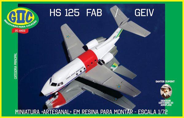 Hawker-Siddeley HS-125 FAB/GEIV - 1/72 - GIIC  - BLIMPS COMÉRCIO ELETRÔNICO