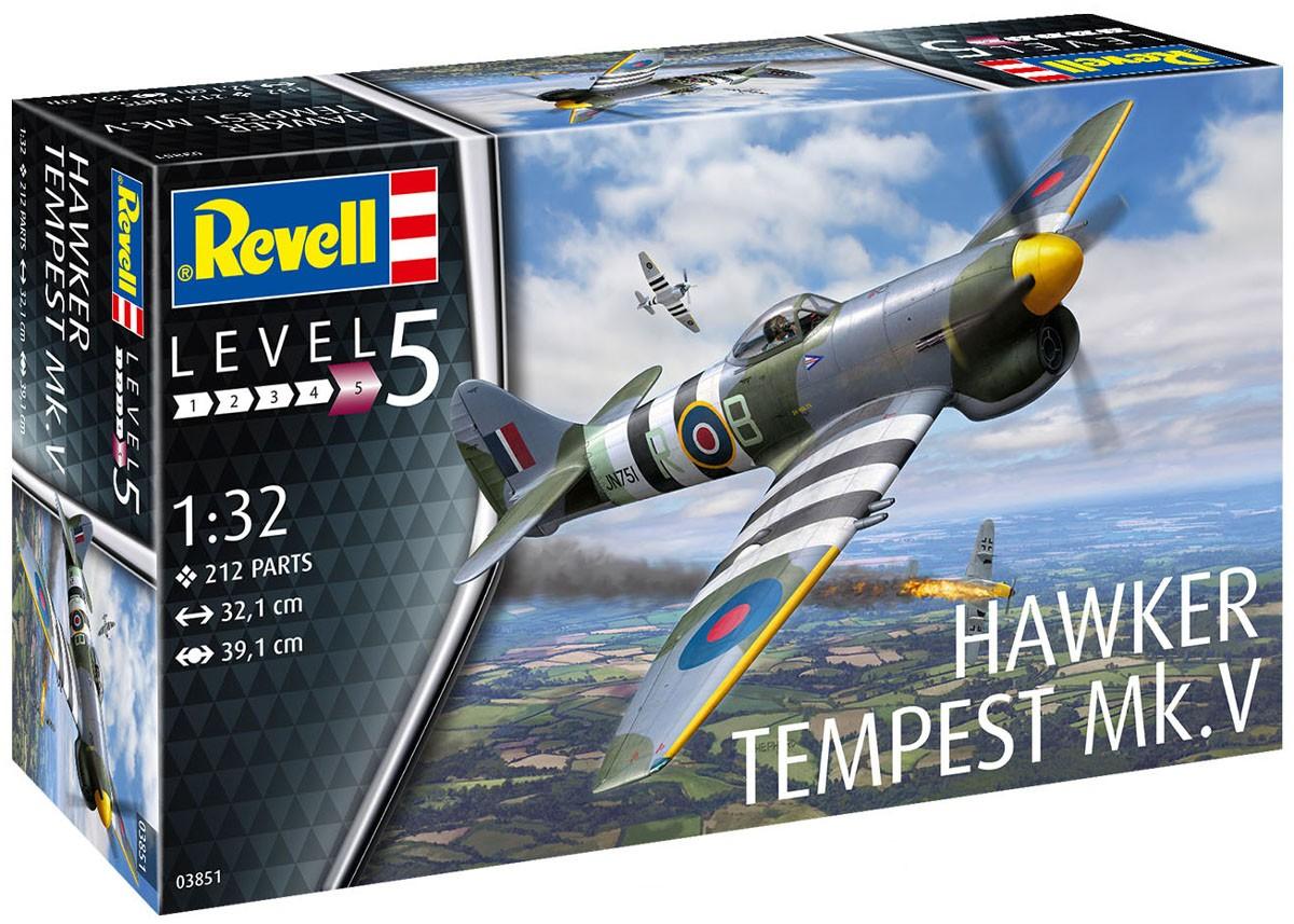 Hawker Tempest Mk.V - 1/32 - Revell 03851  - BLIMPS COMÉRCIO ELETRÔNICO