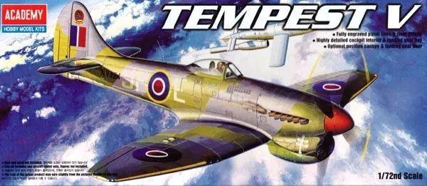 Hawker Tempest V - 1/72 - Academy 12466  - BLIMPS COMÉRCIO ELETRÔNICO