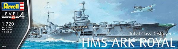HMS Ark Royal & Tribal Class Destroyer - 1/720 - Revell 05149  - BLIMPS COMÉRCIO ELETRÔNICO