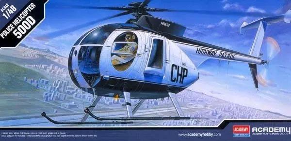 Hughes 500D Police Helicopter - 1/48 - Academy 12249  - BLIMPS COMÉRCIO ELETRÔNICO