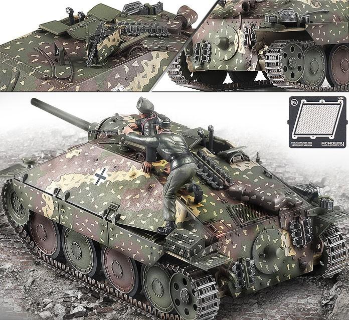 """Jagdpanzer 38(t) Hetzer """"Late Version"""" - 1/35 - Academy 13230  - BLIMPS COMÉRCIO ELETRÔNICO"""