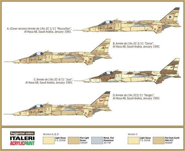 Jaguar A - Guerra do Golfo - 1/72 - Italeri 1386  - BLIMPS COMÉRCIO ELETRÔNICO