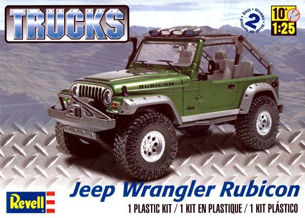 Jeep Wrangler Rubicon - 1/25 - Revell 85-4053  - BLIMPS COMÉRCIO ELETRÔNICO