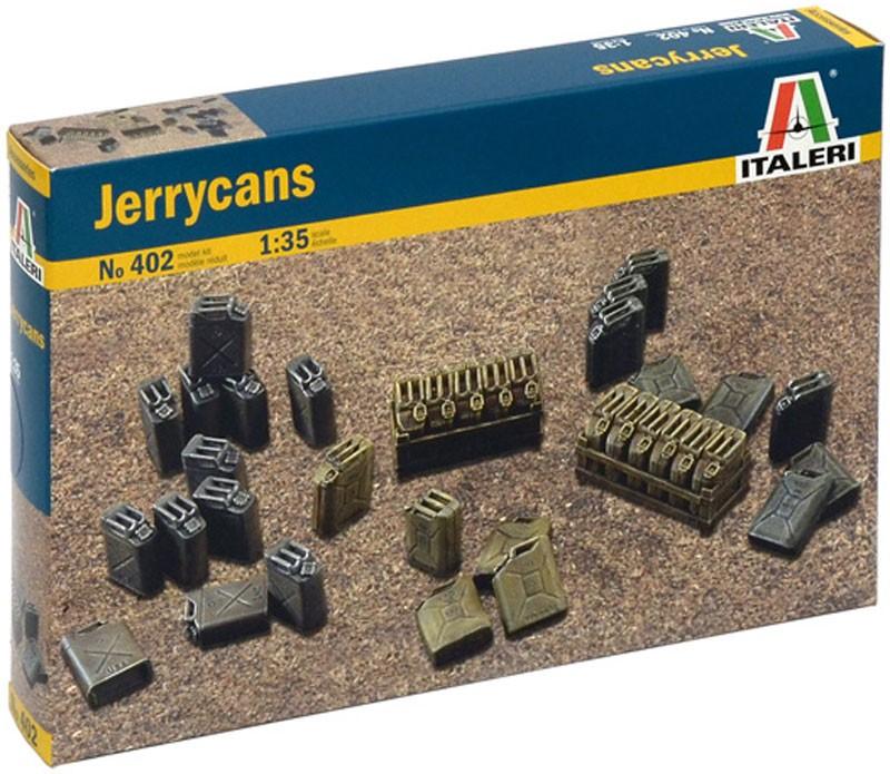 Jerry Cans - Galões de uso geral - WWII - 1/35 - Italeri 402  - BLIMPS COMÉRCIO ELETRÔNICO