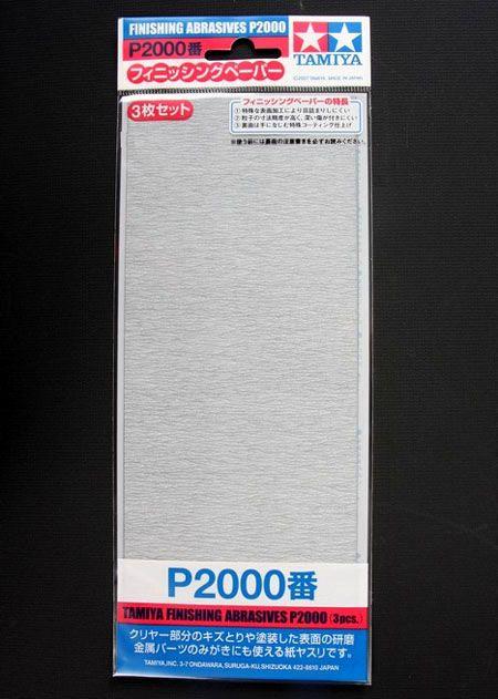 Jogo de 3 lixas para acabamento P2000 - Tamiya 87060  - BLIMPS COMÉRCIO ELETRÔNICO