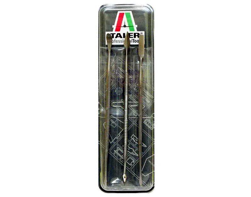 Jogo de 3 mini entalhadeiras de aço inoxidável - Italeri 50819  - BLIMPS COMÉRCIO ELETRÔNICO